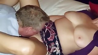 My best friend Brett and my wife make a creampie.